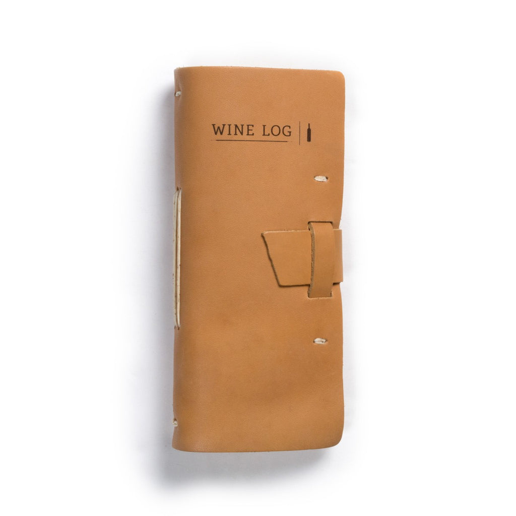 Leather Wine Log in Buckskin