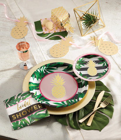 Pineapple Bridal Shower and Spring Pattern