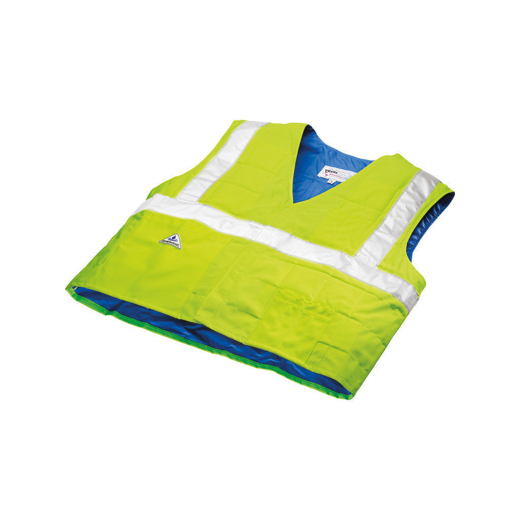 HyperKewl™ Evaporative Cooling Vest - Traffic Safety ANSI Class II Compliant - hi-viz lime