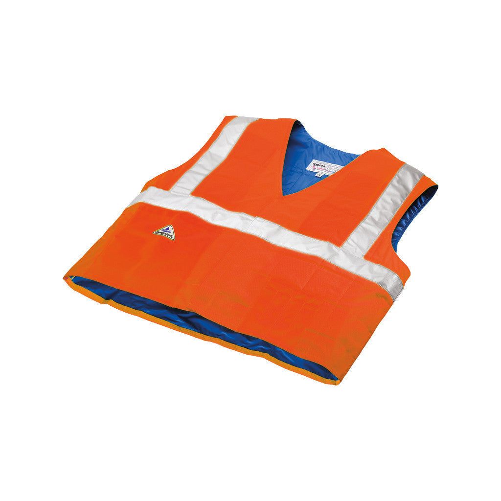 HyperKewl™ Evaporative Cooling Vest - Traffic Safety ANSI Class II Compliant - hi-viz orange