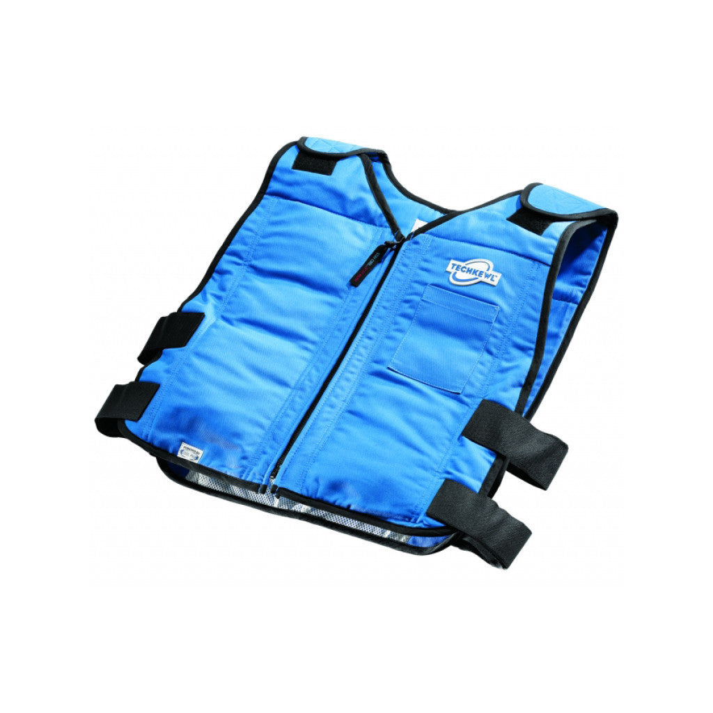 TECHKEWL™ Phase Change Cooling Vest, Style: Front Zipper - blue