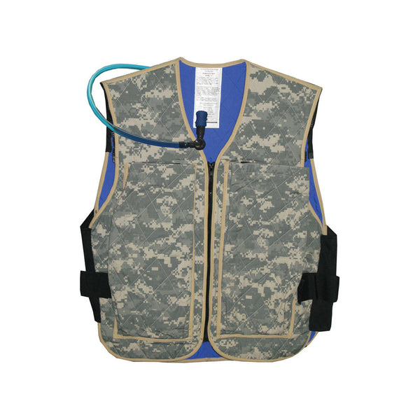 Hybrid military cooling vest with hydration system - Army ACU Digital