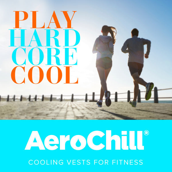 AeroChill® – Evaporative Cooling neon fitness shirt advert