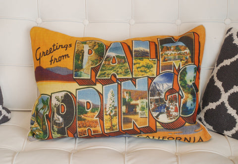 Greetings from Palm Springs Pillow
