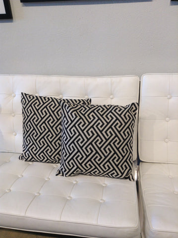 Black and Beige Pattern Pillow