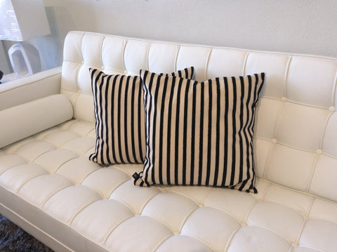 Beige and Black Stripped pillow