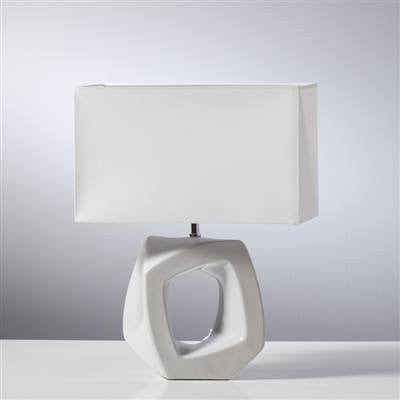 Abstract Outline Wide Lamp - White
