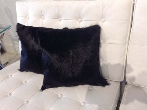 Black Fur Pillow