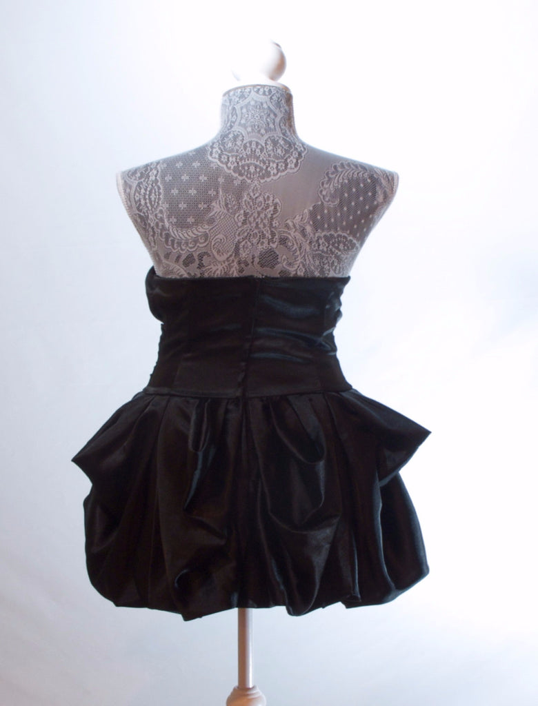 Black Strapless Bubble Dress - Size 9/10 – Molly O'Thrift