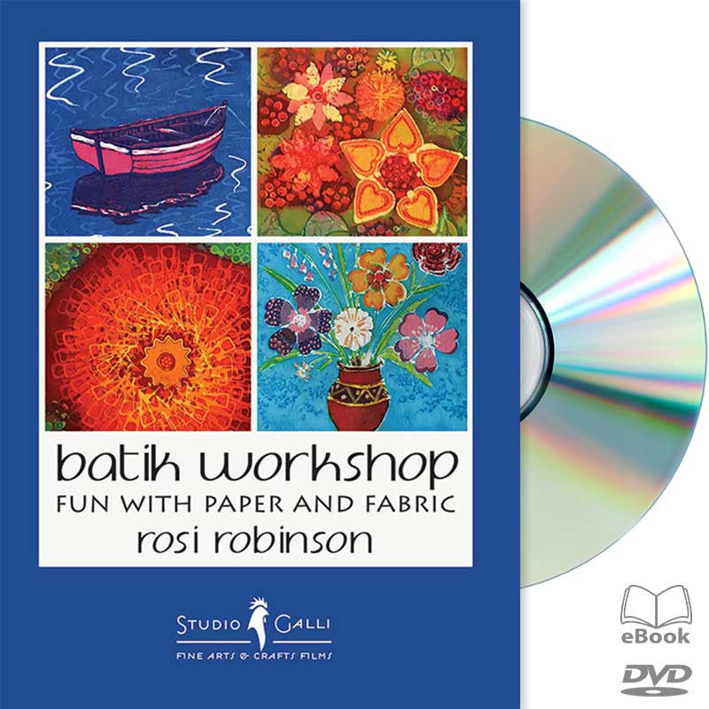 Available on DVD - BATIK WORKSHOP: FUN WITH PAPER AND FABRIC