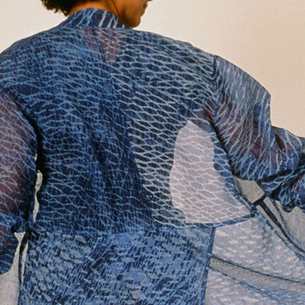 "Arashi Shibori Jacket by Ana Lisa Hedstrom. From the workshop, ""Arashis Shibori - A Language of Stripes"""