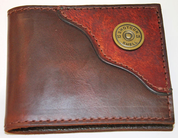 Brown Wallet With Shotgun Shell