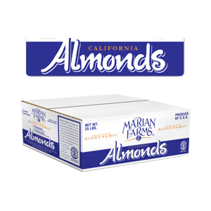 Case of  25 Lbs. of Bulk Almonds