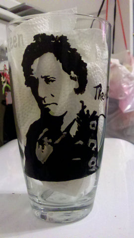 bruce springsteen inspired hand painted glass cups fathers day wedding