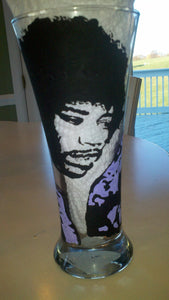 decorative jimi hendrix inspired hand painted tumbler glass fathers day wedding