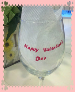 decorative hand painted custom made to order personalized garfield inspired valentines day cupid wine glass mug tumbler cups