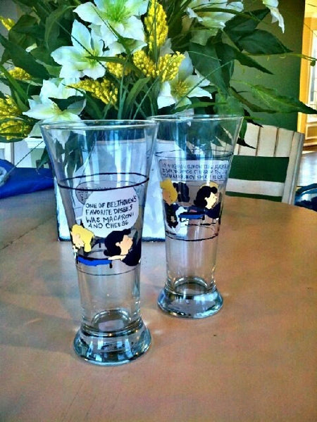 custom set of 2 peanuts gang custom wedding toasting glasses charlie brown Schroeder lucy inspired hand painted wine mothers day
