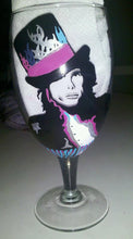 Steven Tyler Joe Perry Aerosmith hand painted glass cups wine glass
