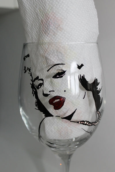marilyn monroe inspired glass