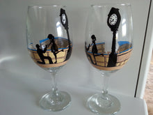 WINE glass custom hand painted gift Engagement proposal Valentine's day wedding