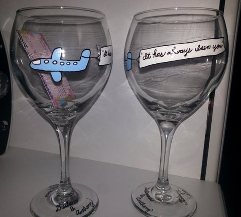custom hand painted personalized wedding proposal plane banner announcement gift