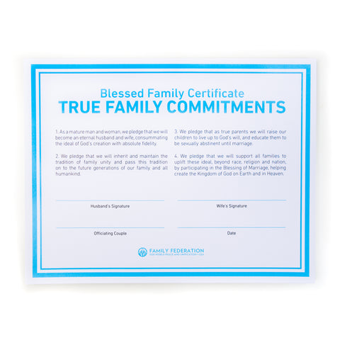 True Family Commitments (English and Spanish available)