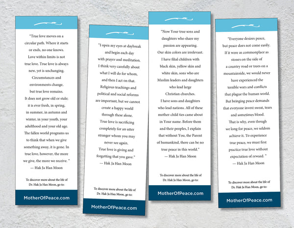 Mother of Peace Bookmarks: Free Digital Download