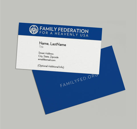 Family Federation Business Cards