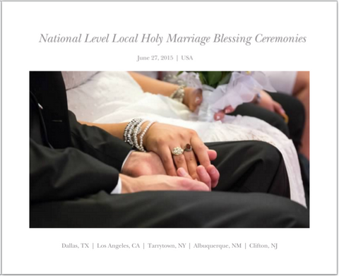 2015 Holy Marriage Blessing Ceremonies Photobook