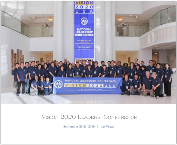 Vision 2020 Leaders Conference Photobook