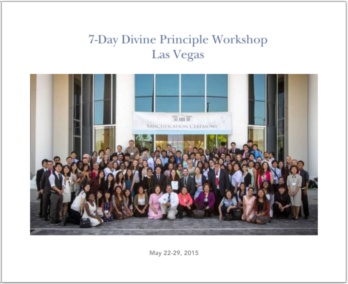 7-Day Divine Principle Workshop Las Vegas Photobook