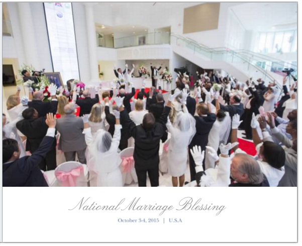 National Marriage Blessing October 2015 Photobook