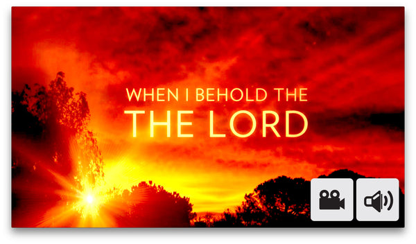 When I Behold The Lord