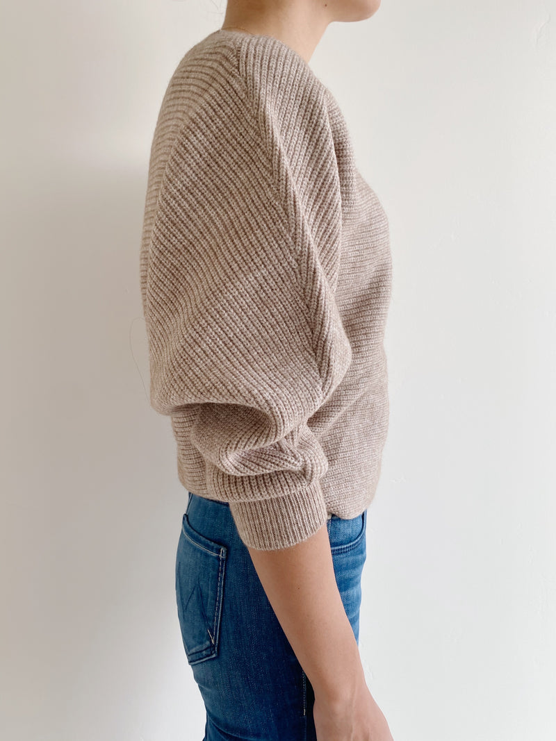 Camel Ribbed Sweater