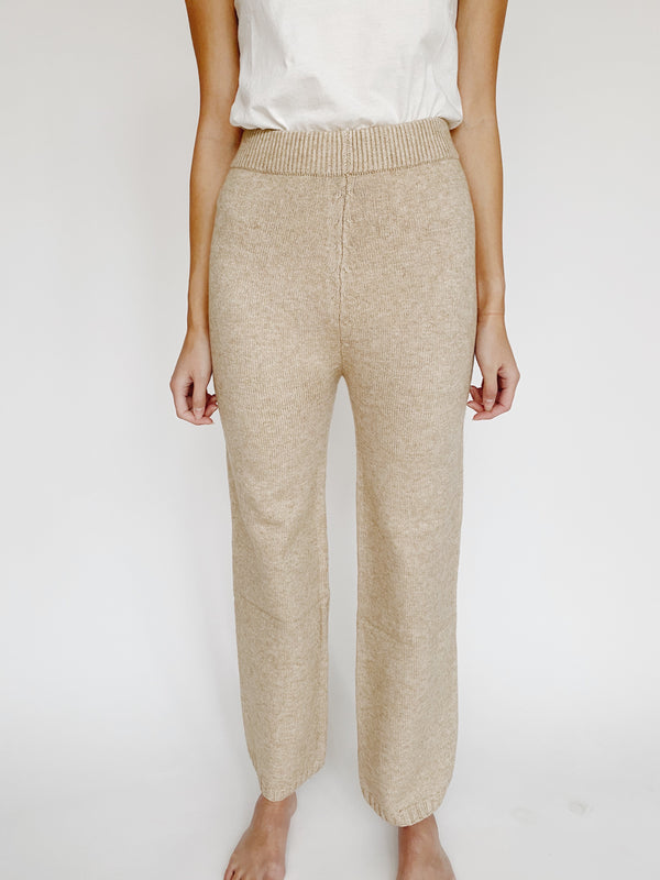 Beige Sweater Pant
