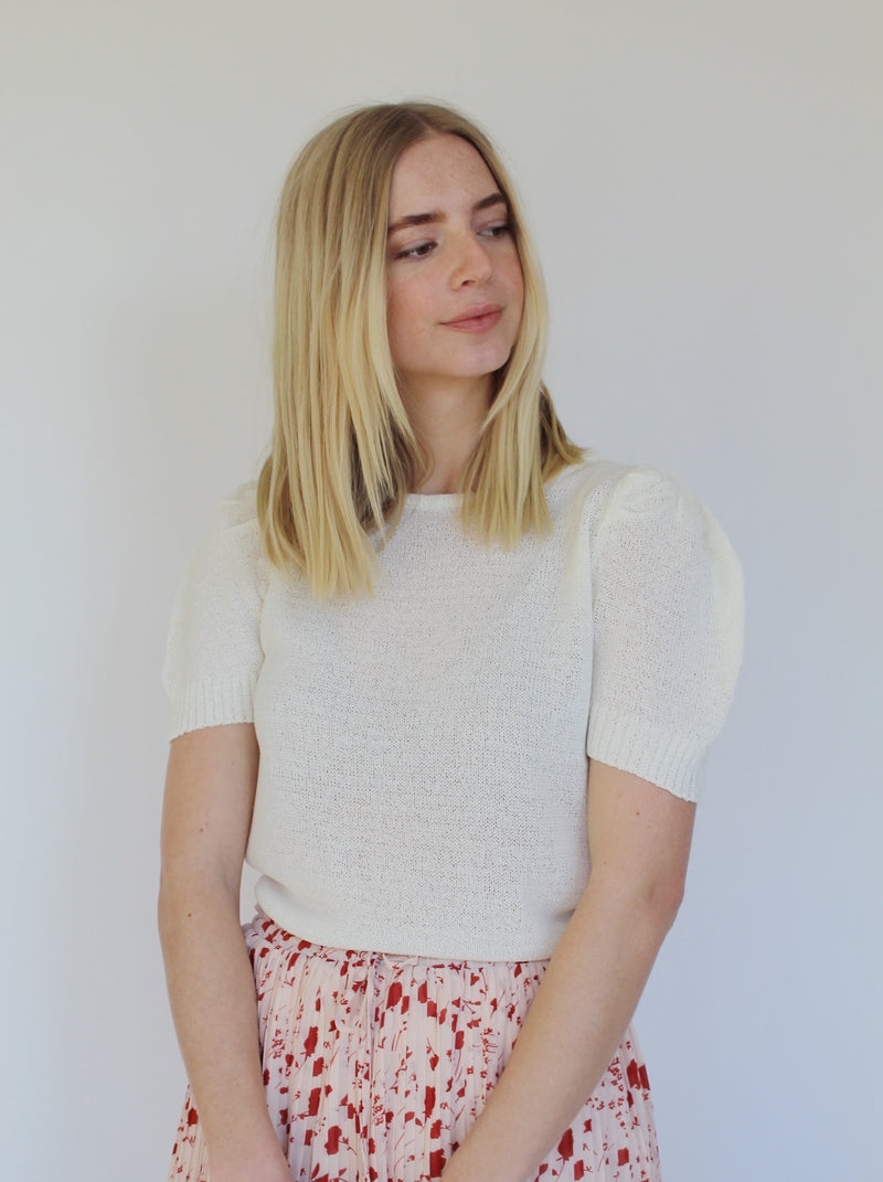 Abby Spring Sweater - Ivory