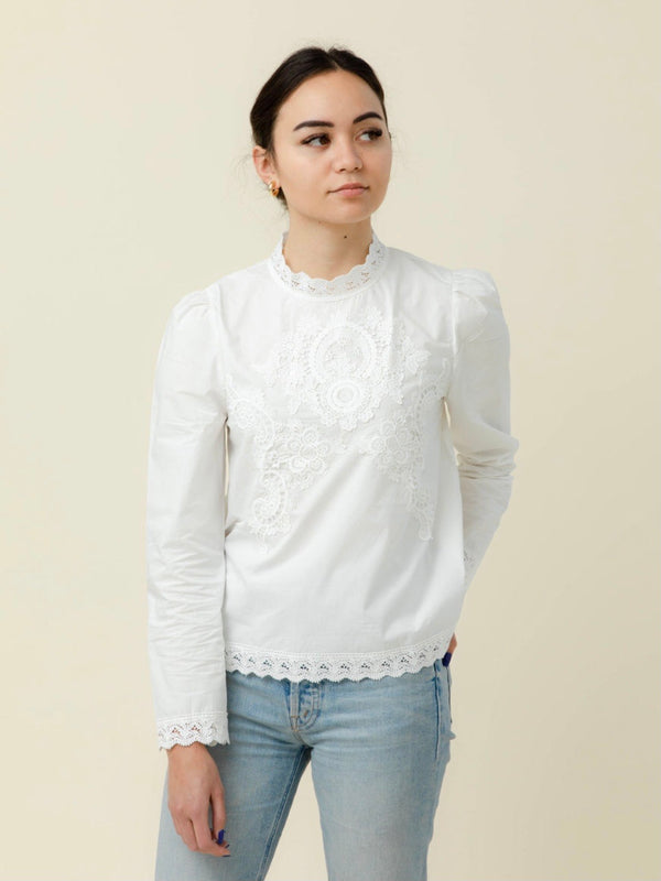 Adele White Blouse