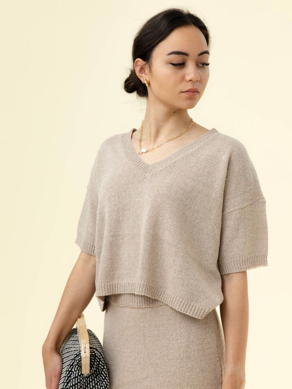 Alva Knit Top - Mocha