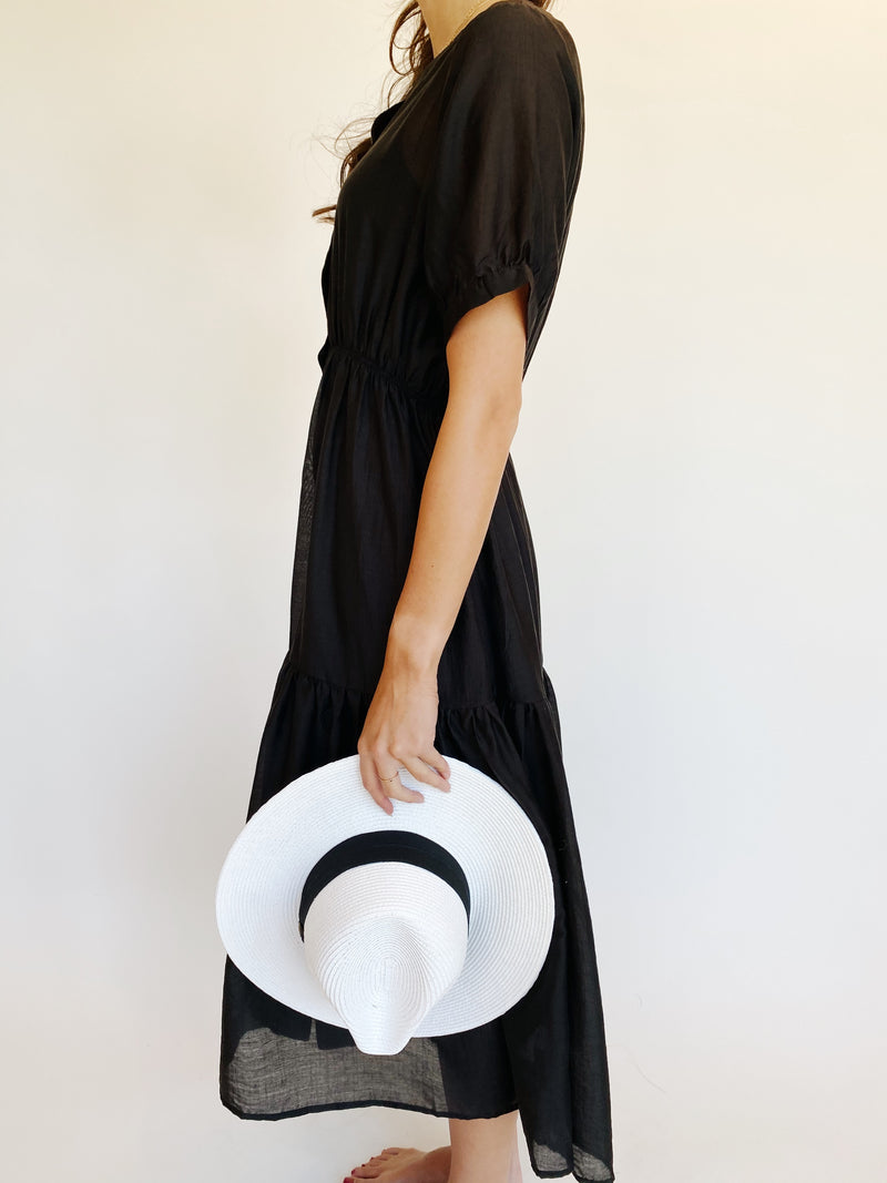 Lily Shirt Dress in Black