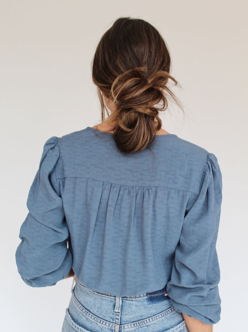Oxford Blue Blouse