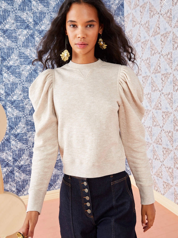 Ulla Johnson Alair Pullover in Oatmeal