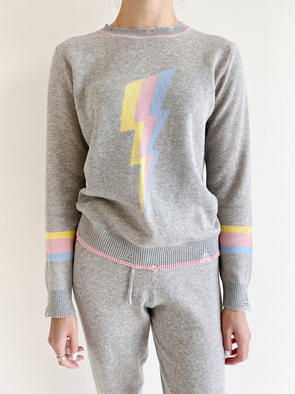 Pastel Bolt Sweater