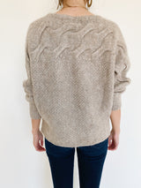 Cable Knit Dolman Sweater
