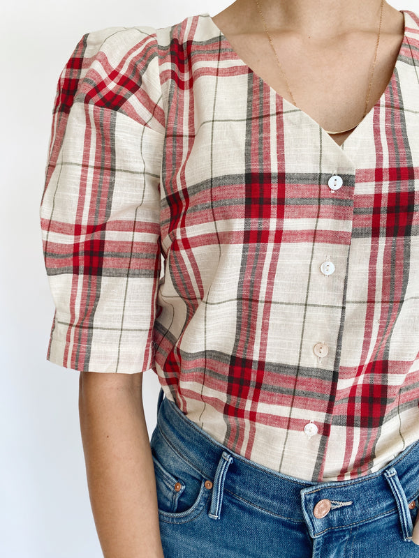 Picnic Plaid Blouse