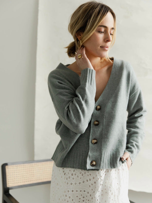 Steel Blue Cardigan