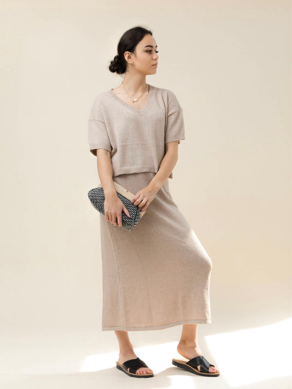 Alva Knit Skirt - Mocha