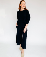 Zoe Black Peasant Blouse