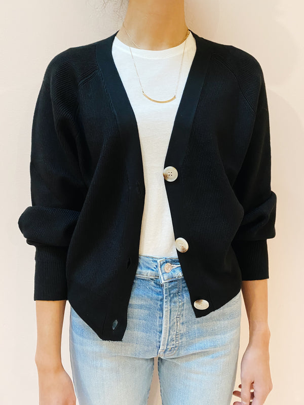 Black Button Cardigan