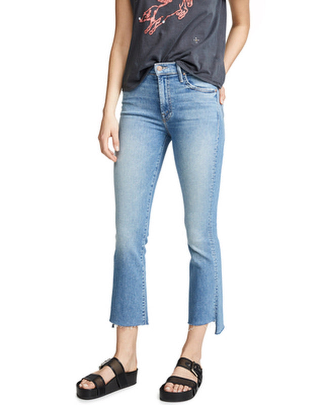 Mother Denim Crop Step Fray