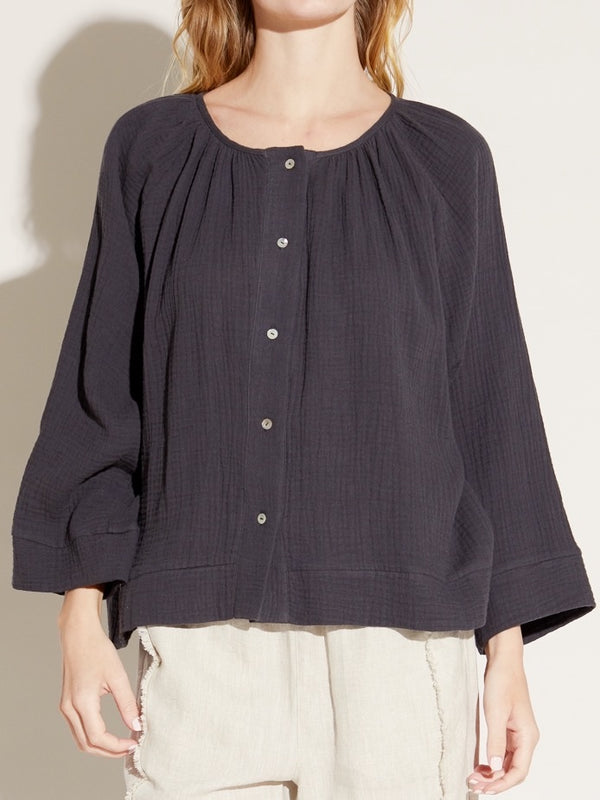 Peppercorn Gauze Blouse